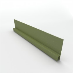 """BGC Duragroove Horizontal """"H"""" Mould 3000mm Aluminium - each"""