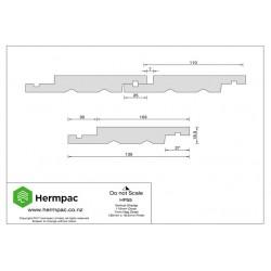 HP55 Western Red Cedar Shiplap Weatherboard PC1 150x25mm - per meter