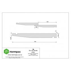 HP62 Western Red Cedar Bevel Back Weatherboard PC1 200x22mm - per meter