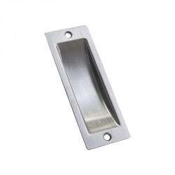 Miles Nelson Rectangular Flush Pull 100mm - Satin Chrome