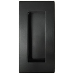 Miles Nelson Square Edge Flush Pull 102mm x 52mm - Matt Black