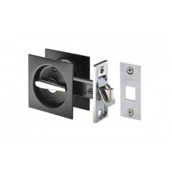 Gainsborough Square Base Privacy Cavity Slider - Matt Black