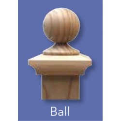 Fence Post Cap 100x100mm - Classic Ball