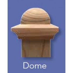 Fence Post Cap 100x100mm - Classic Dome