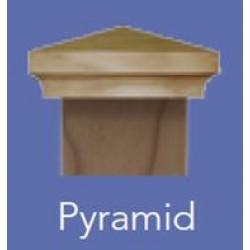 Fence Post Cap 100x100mm - Classic Pyramid