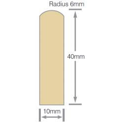 Mould No13 40x10mm Scriber H3.1 RAD FJ Pre-Primed - 5.4m