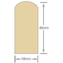 Mould No13b 40x18mm Scriber H3.1 RAD FJ Pre-Primed - 5.4m