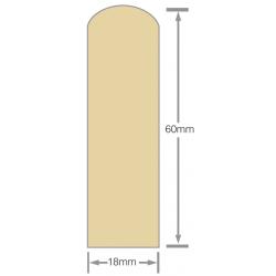 Mould No13C 60x18mm Scriber H3.1 RAD Pre-Primed - 5.4m