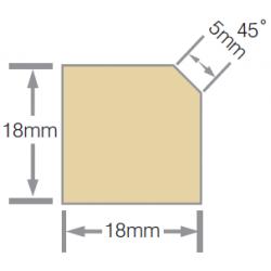 Mould No24a 18x18mm Eavesmould H3.1 RAD FJ Pre-Primed - 5.4m