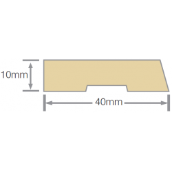 Mould No19 Single Bevelled Architrave 40x10mm RAD FJ UT KD - 5.4m
