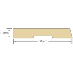 Mould No20 H3.1 60x10mm Bevelled Architrave RAD FJ KD -  Per Meter