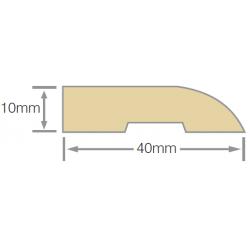 Mould No21 40x10mm Bull Nose Architrave RAD FJ UT KD - 5.4m