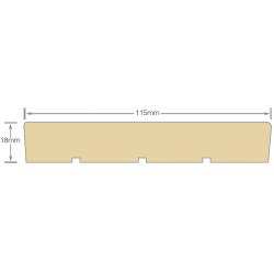 Mould 125x25mm Rad FJ Undershot Door Jamb - 5.4m