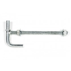 Lock Through Post Gudgeon Short Pin 20 x 275mm  Zinc Plated - each