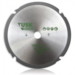 Tusk PCD Fibre Cement Blade 185mm 4T