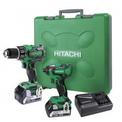 Hitachi 18V Pro Series Twin Pack - Impact Drill and Impact Driver