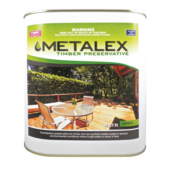 Metalex Consentrated Timber Preservative - 4L Green