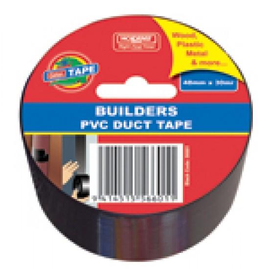 Holdfast Gator Builders PVC Duct Tape Black 48mmx30m