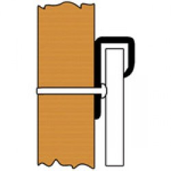 Holdfast Slimline PVC Capping 9.5mm x 2.4m