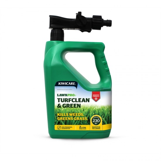 Kiwicare LawnPro Turfclean and Green - 2L Hose Pack