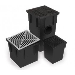 Pit and Sump 250x250x285mm Deep Base and Grate - Each