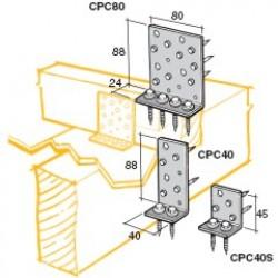 Lumberlok Concealed Purlin Cleat 2.0 x 80mm Galvanised