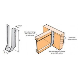 Lumberlok I-Beam Hanger Face Mount 50x240mm - each