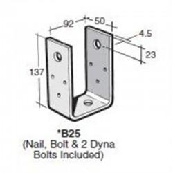 Bowmac B25 Galvanised Post And Bearer Bracket