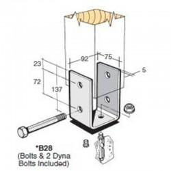 Bowmac B28 Post And Bearer Bracket - Galvanised