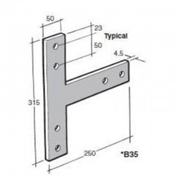 Bowmac BS35  Post And Bearer Bracket - Stainless Steel