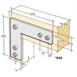 Bowmac B48 L Strap - Galvanised
