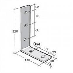 Bowmac B54 Angle Bracket  - Galvanised