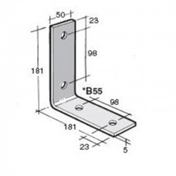 Bowmac B55 Angle Bracket - Galvanised