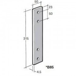 Bowmac B85 Strap Galvanised