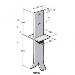 Bowmac BS197 Post And Bearer Bracket - Stainless Steel