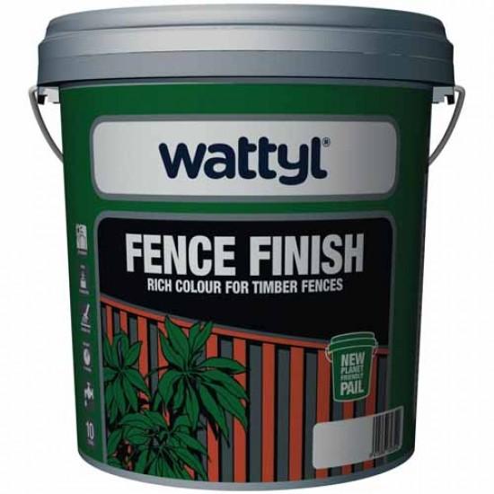 Wattyl Fence Finish Paint Low Sheen 10 Litre - Ebony