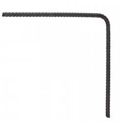 Steel D12 Corner Bar 600 x 600mm 90 deg - each
