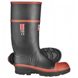 Red Band Safety Gumboot Knee Length - Size 10