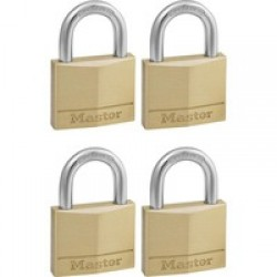 Master Lock 40mm Solid Brass Keyed Alike Padlock - 4 Pack