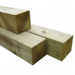 Fence Post 100x100mm H4 No2 Rad Rough Sawn - 2.7m