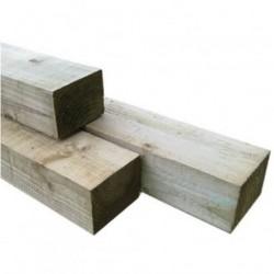 Fence Post 100x75mm H4 No2 Rad Rough Sawn - 1.2m