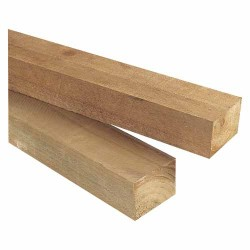 75x50mm H3.2 No2 Rail Rad Rough Sawn - 4.8m